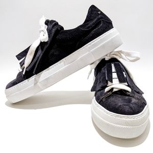 L'AUTRE CHOSE suede sneakers with fringes